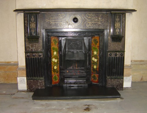 Edwardian Marblised Slate Surround