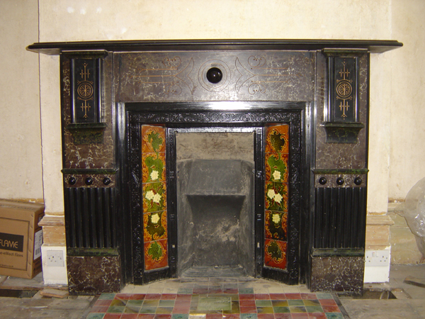 Edwardian restored fireplace Balham