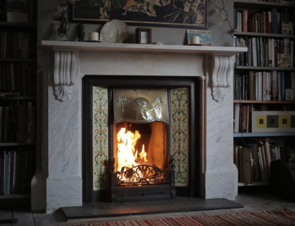 Regency Portland Stone Roundel Surrounds Fireplace Restoration