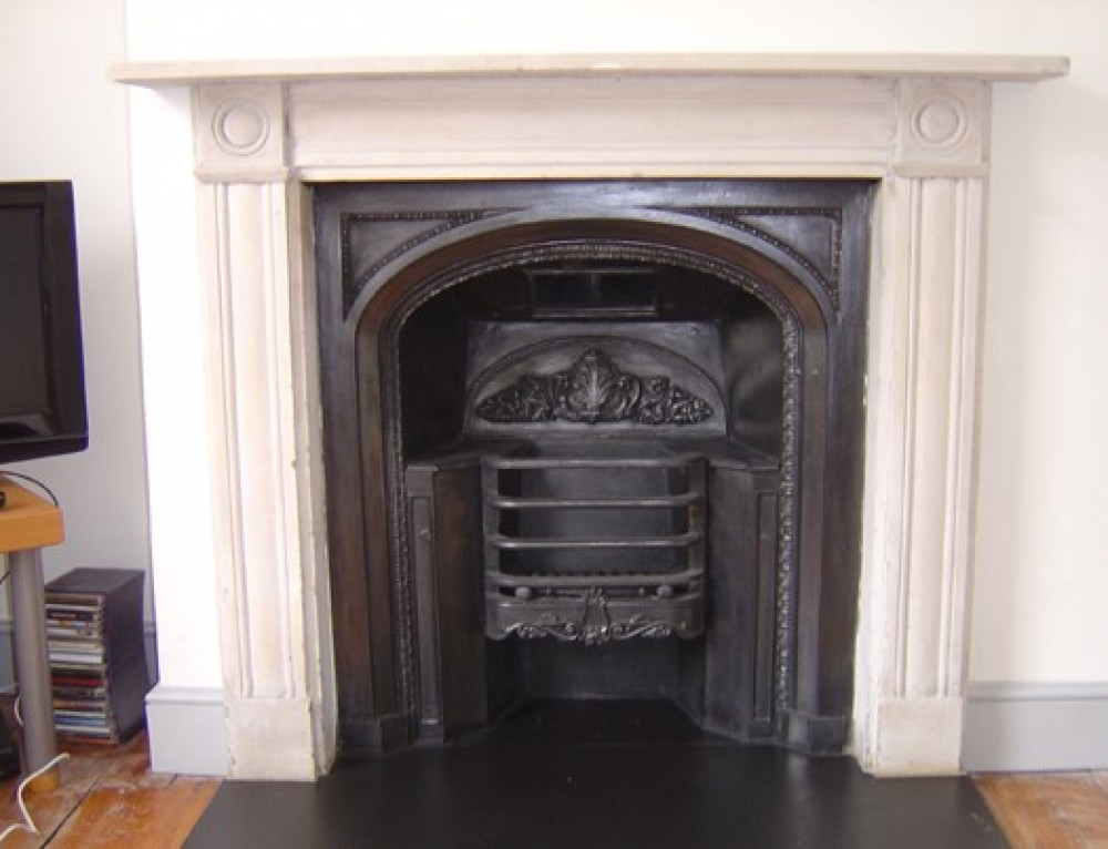 regency carrara marble surround fireplace restoration