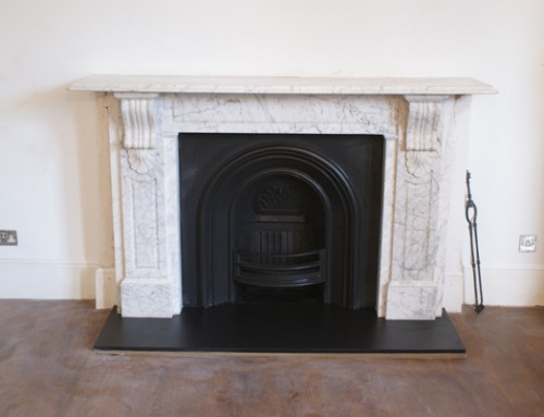Victorian panelled Corbel Surround in Carrara