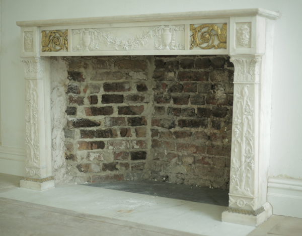 Restoration of marble surround