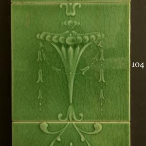 Green monochrome majolica tiles
