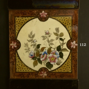 transfer hand painted delicate floral tiles