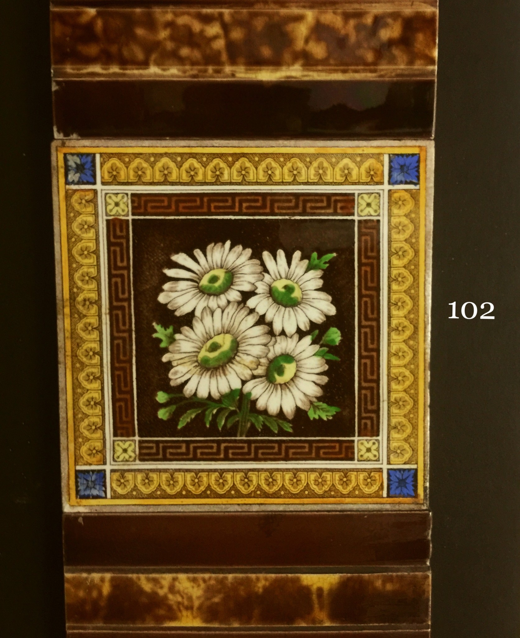 Victorian Hand Painted Transfer Tiles Fireplace Restoration