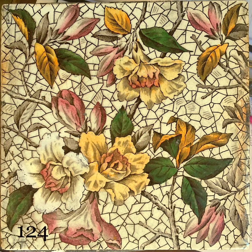Victorian Transfer Print Tiles Hand Painted Fireplace