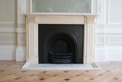 Harley Street fireplace restoration