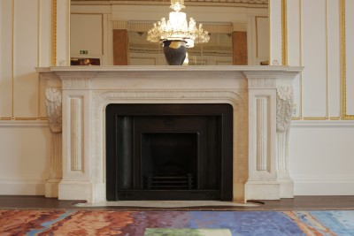 McDonald room fireplace restoration Canada House