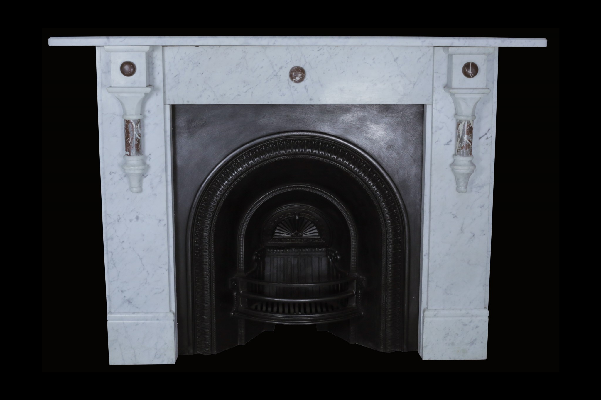 A late victorian early edwardian marble surround Victorian fireplace restoration