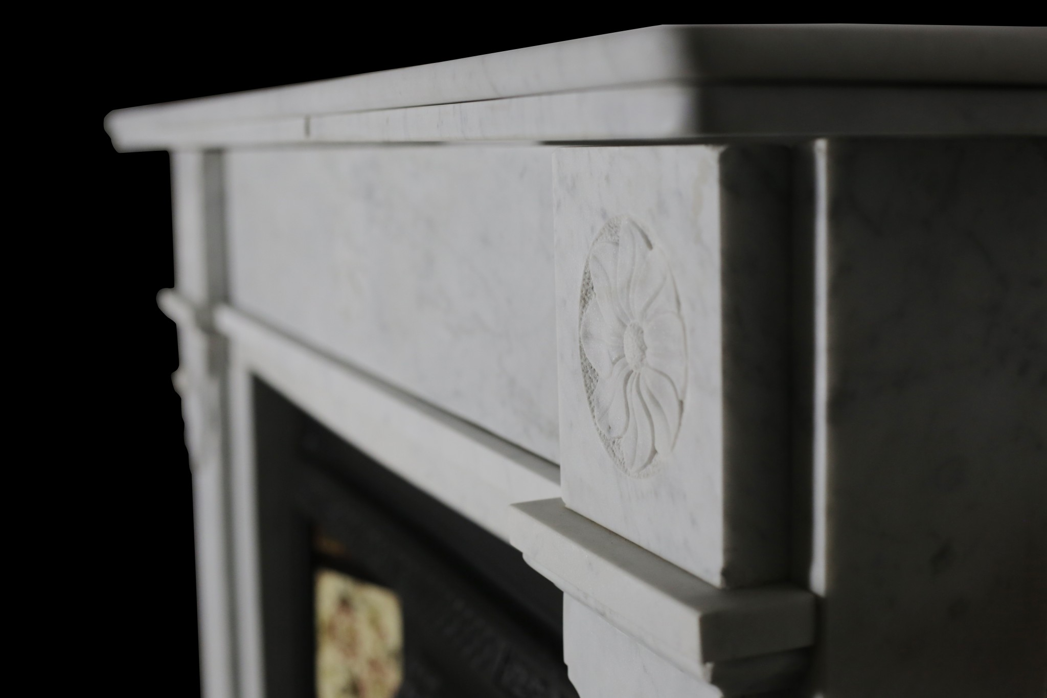 Carrara Marble Arts And Crafts Style Fireplace Restoration