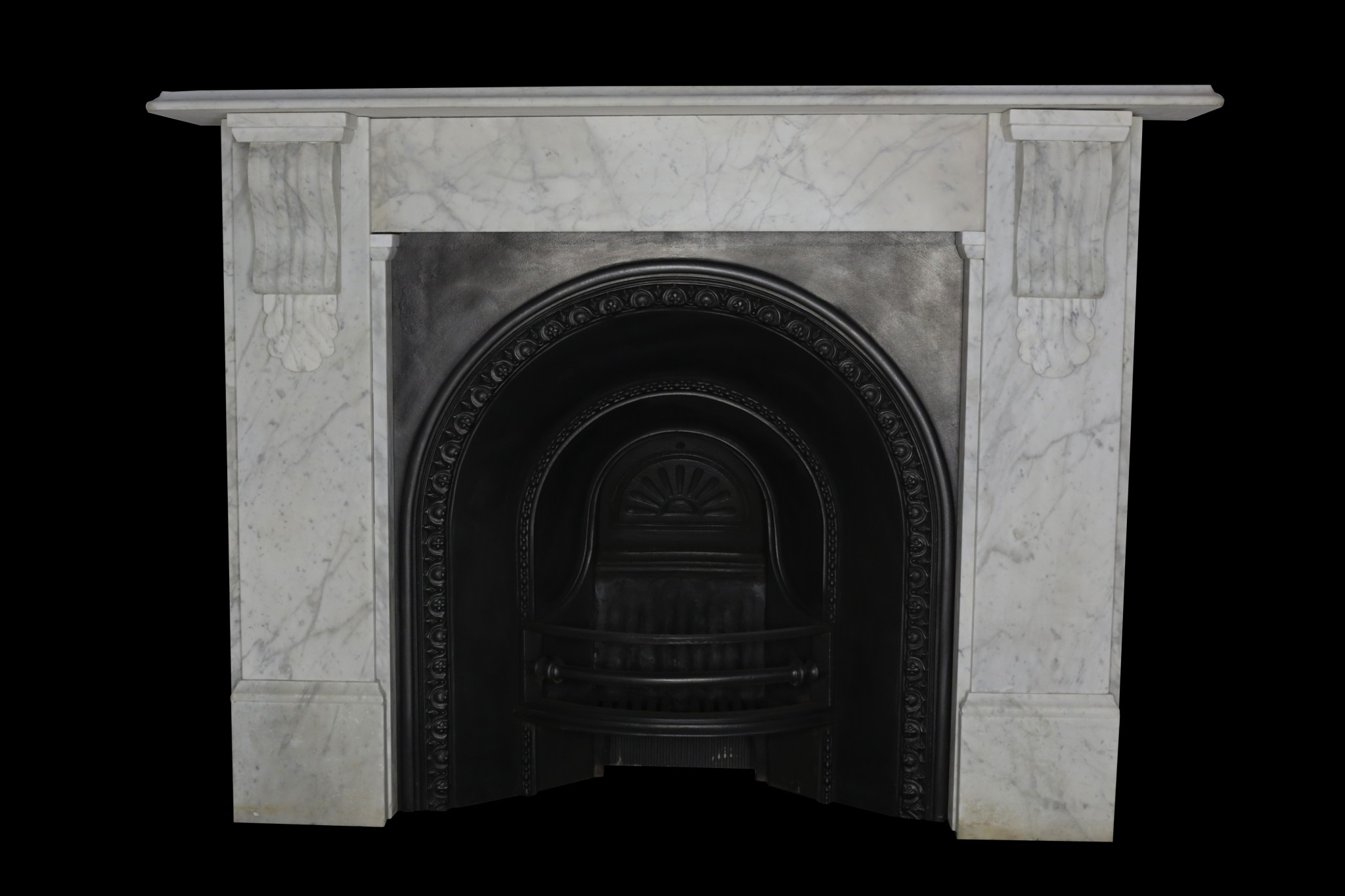 Victorian carrara pencil veined marble fireplace restoration Victorian fireplace restoration