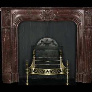 Griotte Marble Louis XV Style fireplace