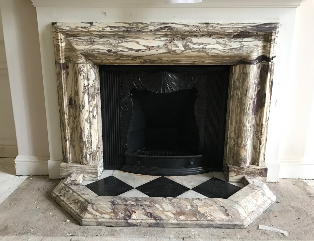 Roux restaurant fireplace restoration Victorian fireplace restoration