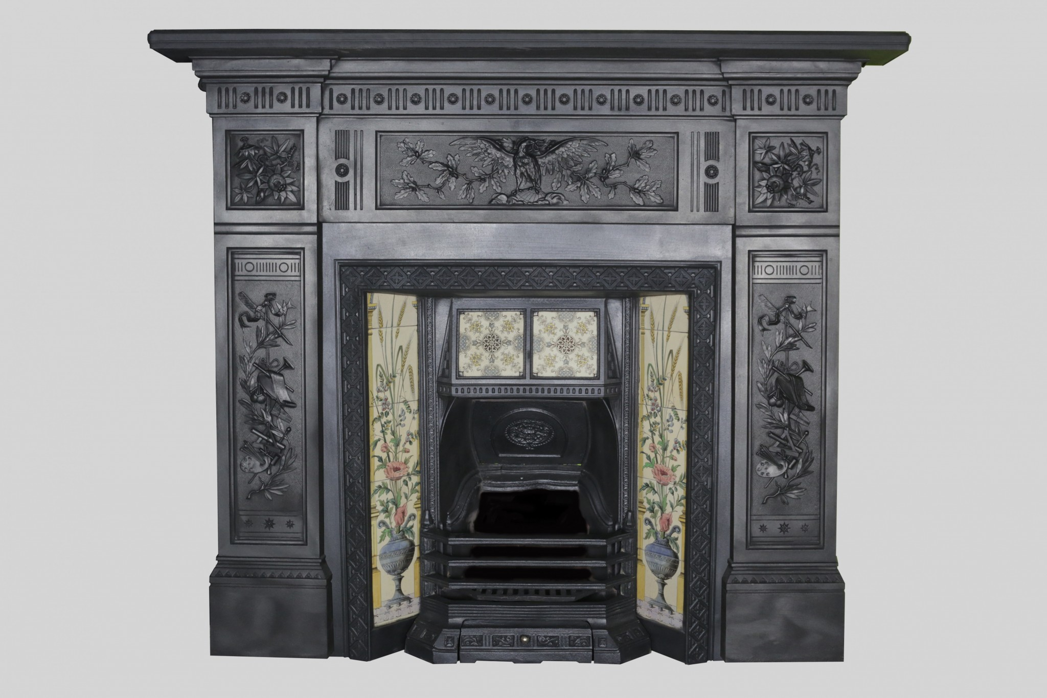 Late victorian cast iron surround fireplace restoration Victorian fireplace restoration