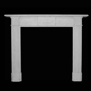 Regency Carved Statuary Marble Surround