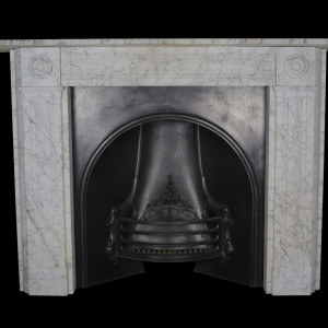 Regency pencil veined carrara marble surround